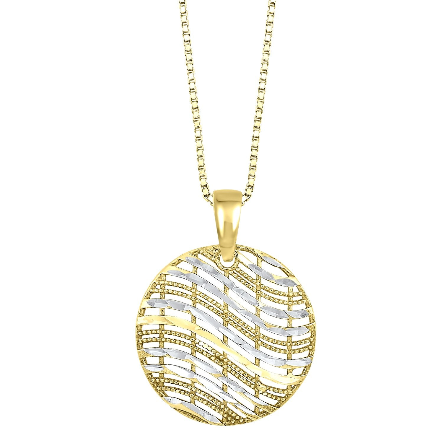 Silver Pendant with 24K Gold overlay