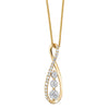 14KT Diamond Necklace 1/4ctw