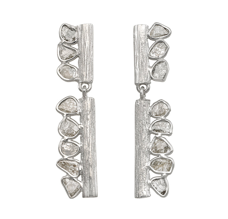 Jorge Revilla Sterling Silver/18k Finish Diamond Slices