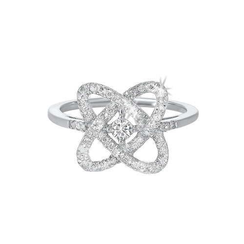 Sterling Silver Diamond Ring LOVE'S CROSSING Collection