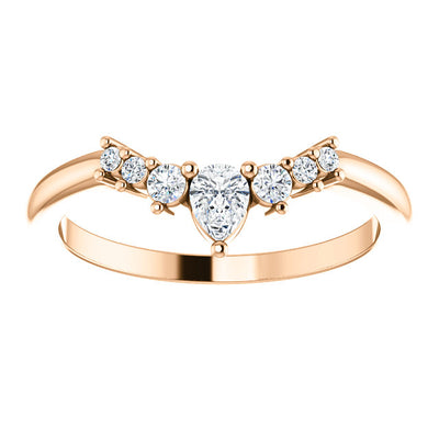 LDS 14K ROSE GOLD CONTOUR DIAMOND BAND