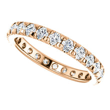 Load image into Gallery viewer, LDS 14K ROSE GOLD FRENCH SET ETERNITY BAND 1.00CTW