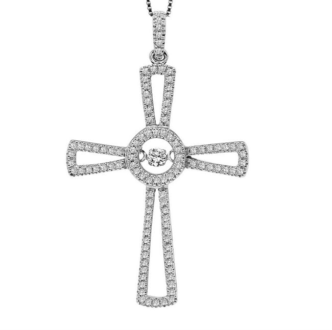 Sterling Silver Rhythm Of Love Cross