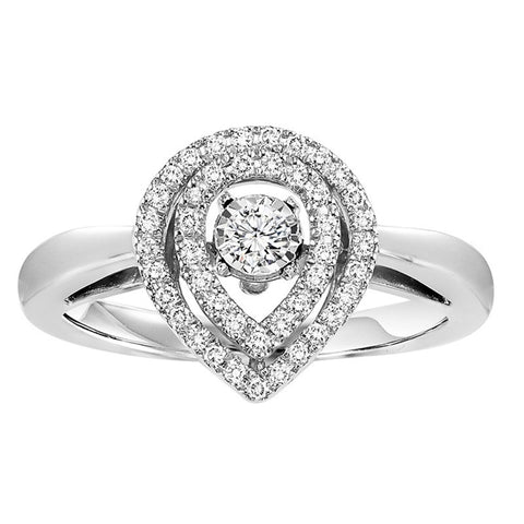 Rhythm Of Love Diamond Pear Shape Ring