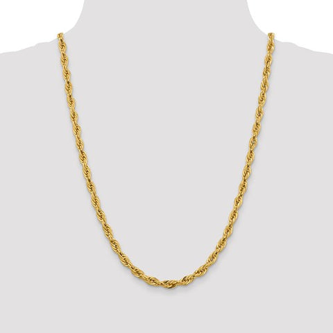 14k 5.4mm Yellow Gold Chain 24 inches