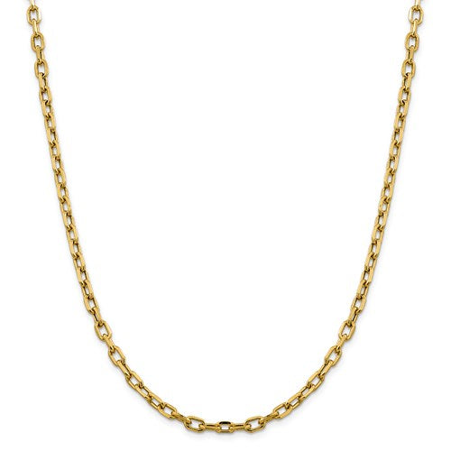 14k Semi-Solid 4.9mm Open Link Cable Chain