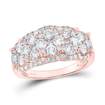 Rose Gold 2 Carat Diamond Ring