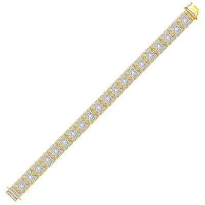 Yellow Gold Diamond Bracelet 10 Carats