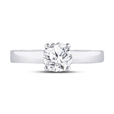 14k White Gold 3/4ctw Diamond Solitaire Certified