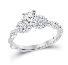 Load image into Gallery viewer, 3 Stone Infinity Engagement Ring 1 Carat