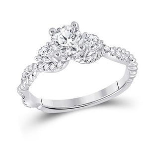 3 Stone Infinity Engagement Ring 1 Carat