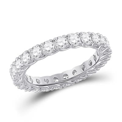 White Gold Diamond Eternity Band 2 Carats