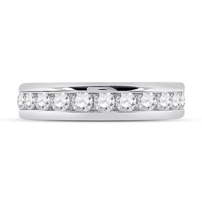 14k White Gold Diamond 2 Carat Eternity Band Channel-set