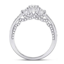 Load image into Gallery viewer, 14k White gold 3 Stone Engagement Ring 1ctw Certified