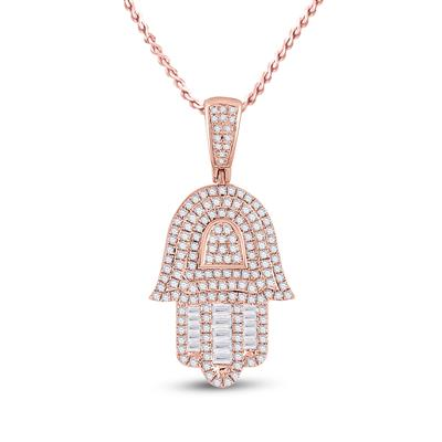 Rose gold Diamond Hamsa Hand 3/4 ctw