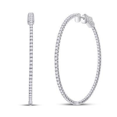 3.00 Carat Diamond Hoops