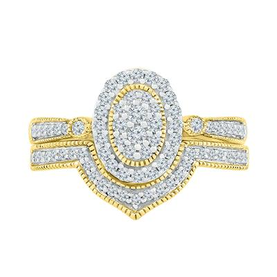 Yellow Gold 1/2 Carat Bridal Set