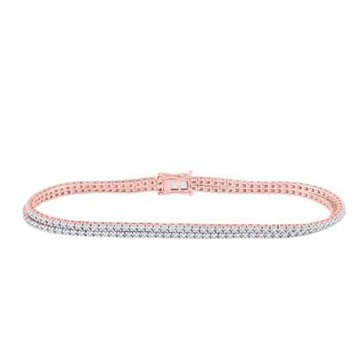 Rose Gold Tennis Bracelet 1 Ctw