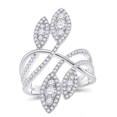 White gold Statement Fashion Diamond Ring 1.75tw