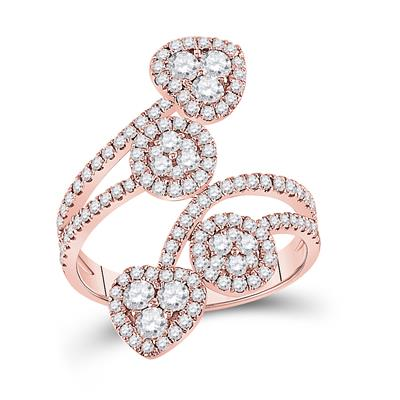 14k Rose Gold Diamond Fashion Ring 1.25ctw