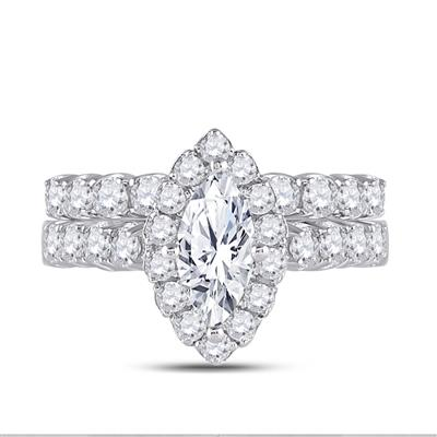 Marquise Diamond Bridal Set 2 Carats