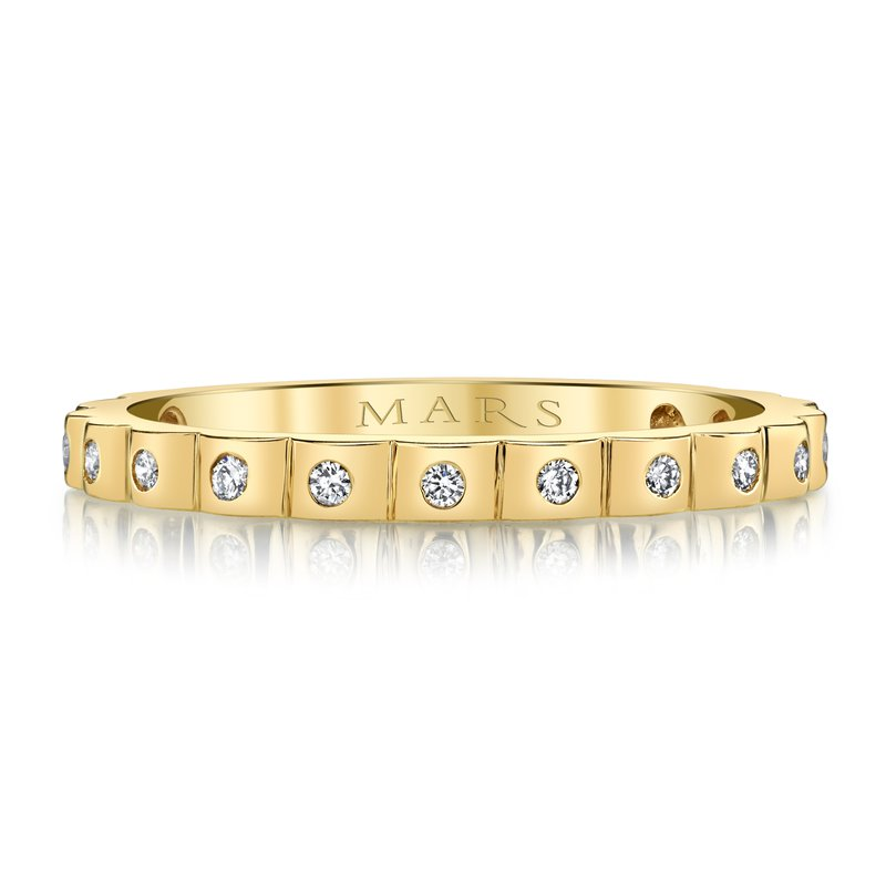 14k Yellow Gold Diamond Stackable 0.16ctw Ring