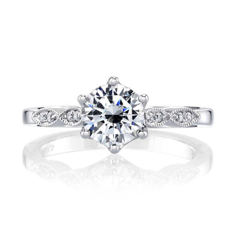 14k White Gold Engagement Ring .10ctw