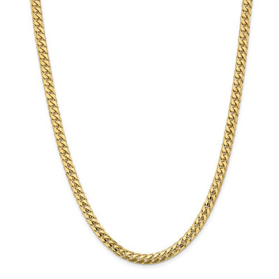 Solid Miami Cuban Link Chain 5.5mm