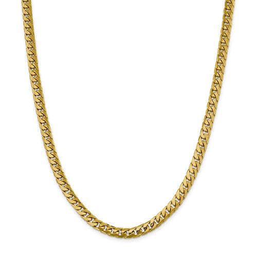 14k 6.25mm Solid Miami Cuban Chain 22""