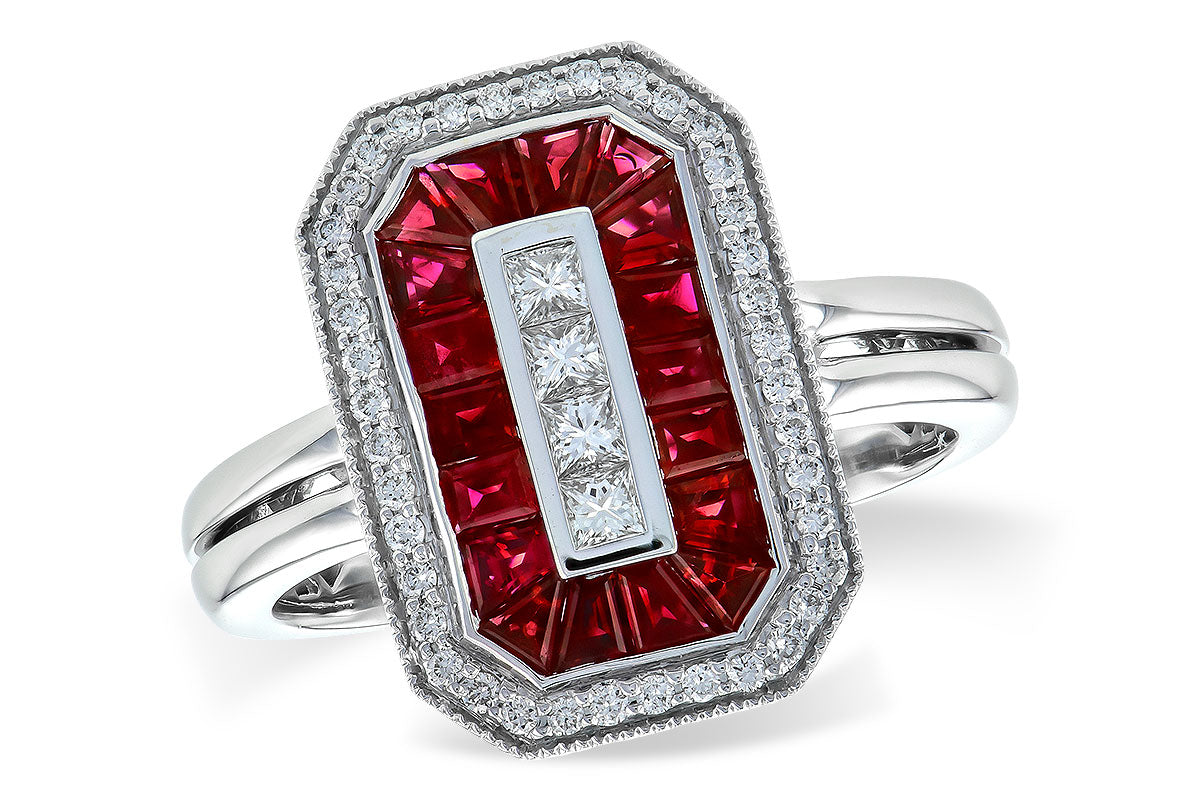 Allison Kaufman Ruby Diamond Ring 1.36 ctw