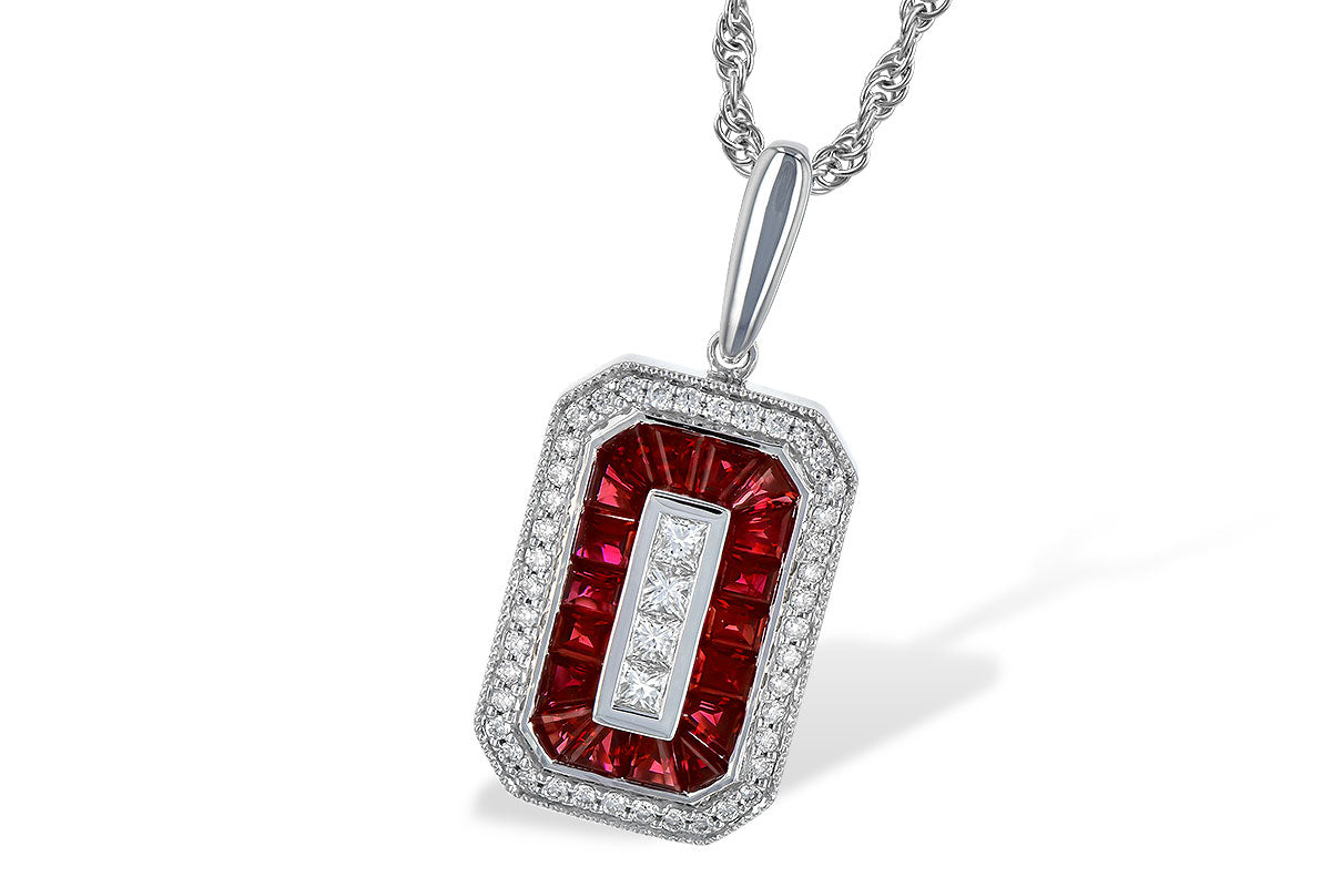 Allison Kaufman Ruby Diamond Necklace 1.42ctw