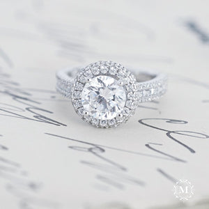 Luxe Halo Diamond Engagement Ring