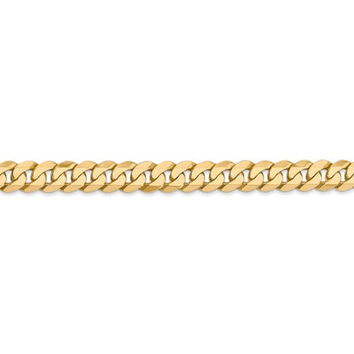 14k 6.25mm Beveled Curb Chain 18""
