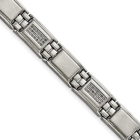 CHISEL Mens Stainless Steel Diamond Bracelet 3/4ctw