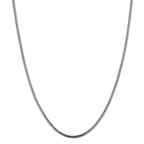 14k White gold 2.5mm Franco Chain 24""