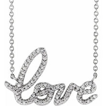 Load image into Gallery viewer, 14K Gold LOVE Diamond Necklace