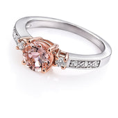 Jonc Diamant or rose et blanc