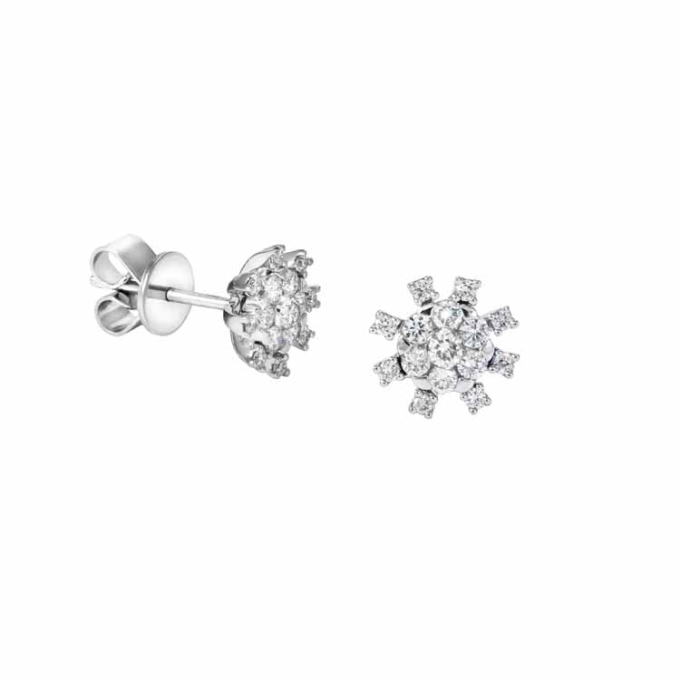 Boucles d'oreilles avec diamants de la collection Sunflower