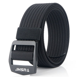 9 Colors Elastic Men Canvas Belt Adjustable Army Belt For Trousers Outdoor Nylon Tactical Belts Metal Buckle Military Waist Belt