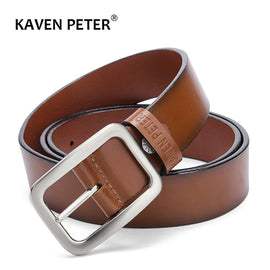 Male Belt For Mens Luxury Cow Genuine Leather Belt Designer Belts Men Pin Buckle Business Trouser High Quality Black Blue Brown