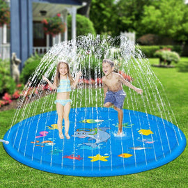 Outdoor Lawn Beach Sea Animal Inflatable Water Spray Kids Sprinkler Play Pad Mat Tub Swiming Pool