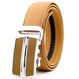 CETIRI Blue Red Orange White Black Brown Sliding Buckle Ratchet Strap Male Designer Belts for Men Genuine Leather Belts