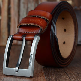COWATHER 2019 belts for men high quality cow genuine leather vintage New designer pin buckle ceinture mens belts luxury XF003-4