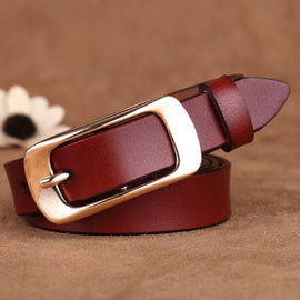 Hot New Designer Fashion Women's Belts Genuine Leather Brand Straps Female Waistband Pin Buckles Fancy Vintage for Jeans LB073