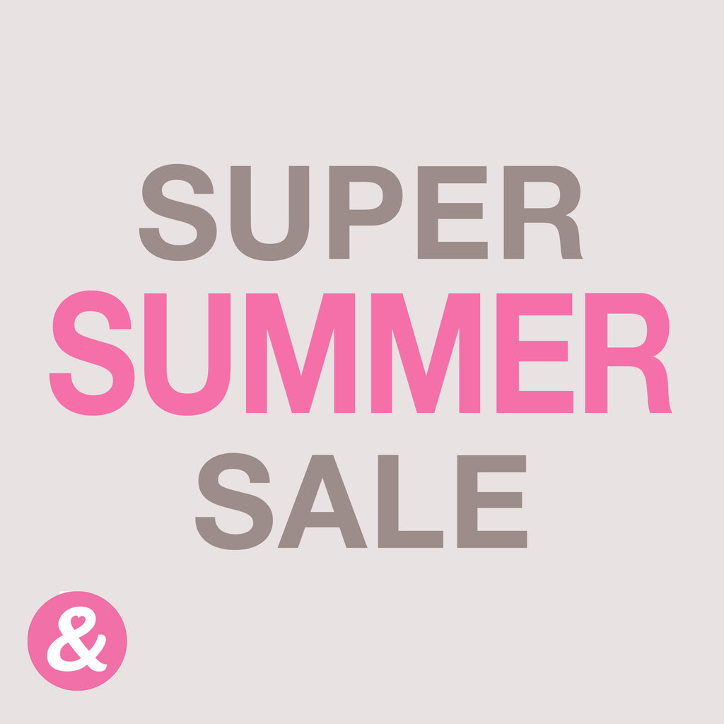 SUPER SUMMER SALE 50% OFF EVERYTHING