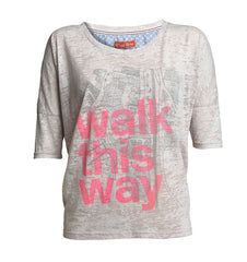 Plus Fine Corinth Long Sleeved t-shirt style top Grey