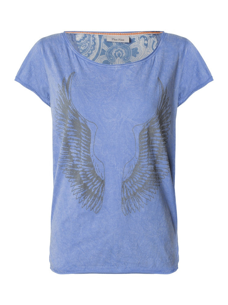 Plus Fine Fiza T-Shirt Ocean Blue