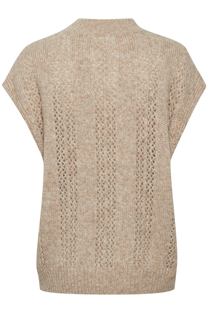 Saint Tropez Dasie Knitted Vest Tan