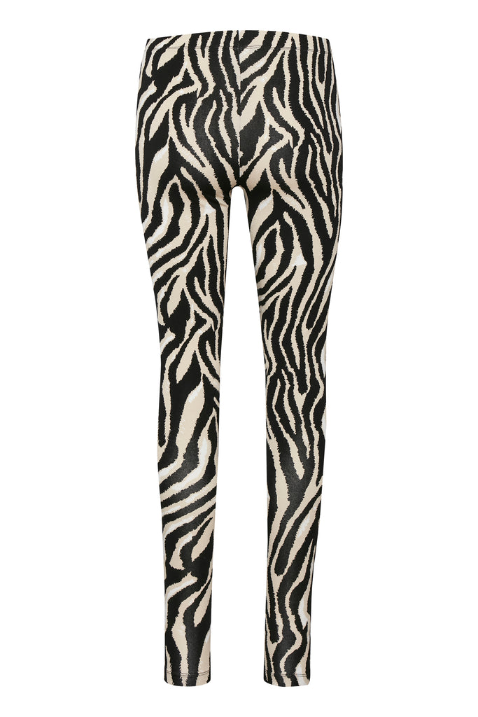 Saint Tropez Davina Leggings Black Zebra