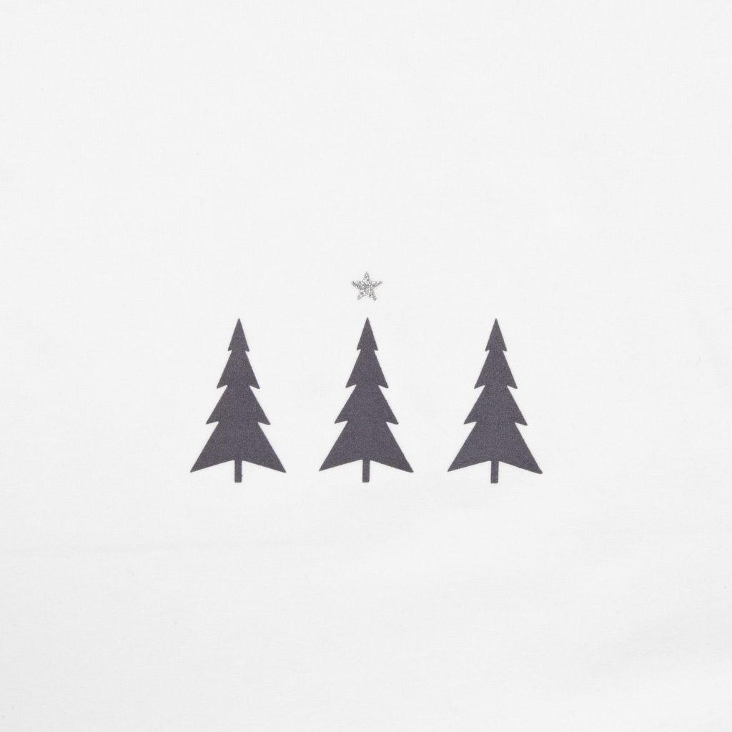 Chalk Christmas Robyn Long Sleeve Top White Triple Tree